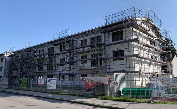 Neubau in Piding im Juli 2021