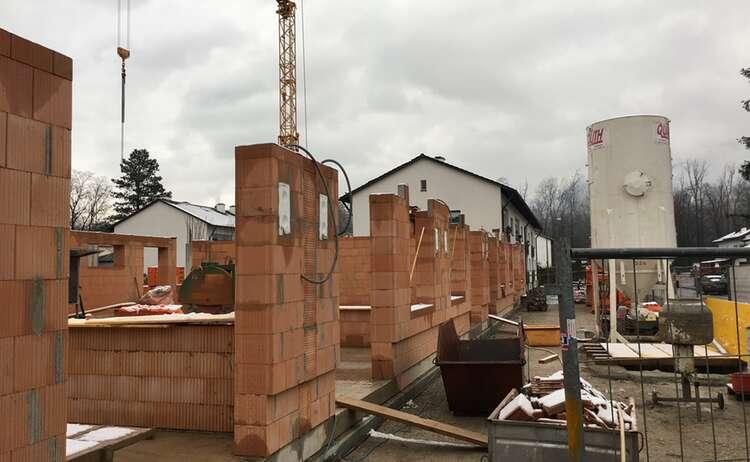 Neubau Piding Auenstraße 23, Baufortschritt Ende November 2018