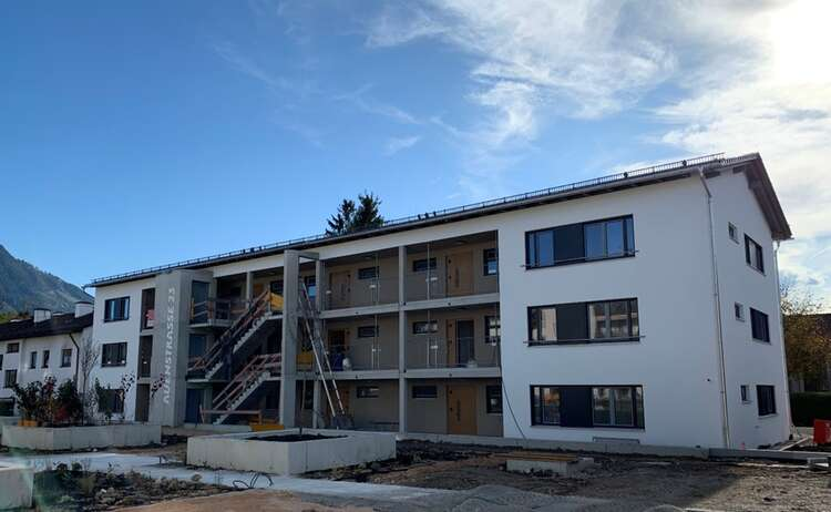 Neubau Piding Auenstraße 23, Baufortschritt Oktober 2019