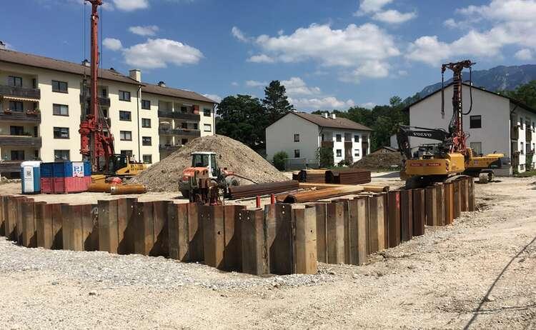 Neubau Piding Auenstraße 23, Baufortschritt Juni 2018