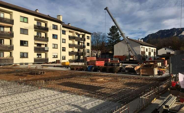 Neubau Piding Auenstraße 23, Baufortschritt Anfang November 2018